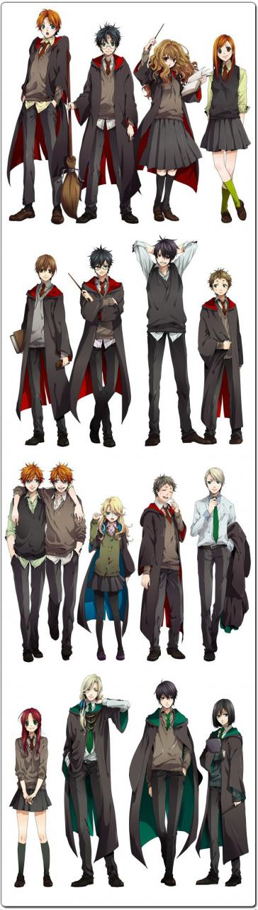 The Harry Potter Cast Reimagined as Anime Characters