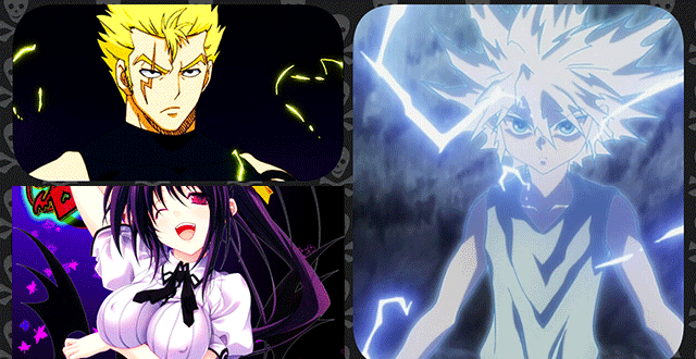 Top 10 Strongest Electricity Users In Anime top-10  Naruto lol Anime