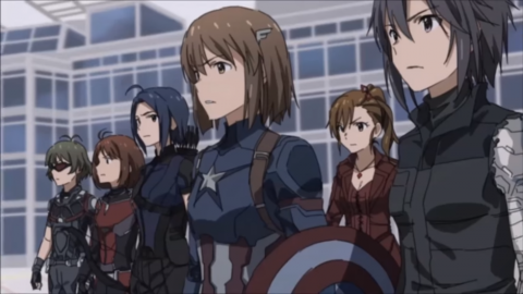 Captain America: Civil War starring anime girls is kawaii as hell