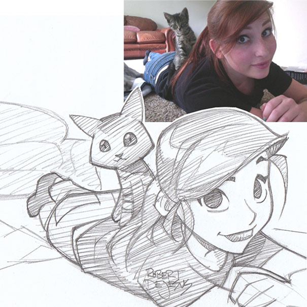 This Artist Turns Strangers Into Anime Characters arts  Arts Anime