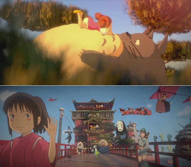 Beautiful 3D Stylized Tribute To Hayao Miyazaki Films