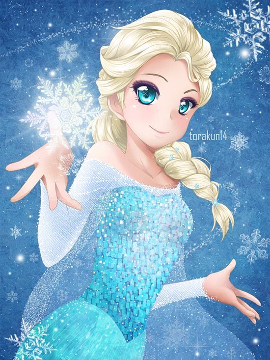 Disney Characters in Anime Style!