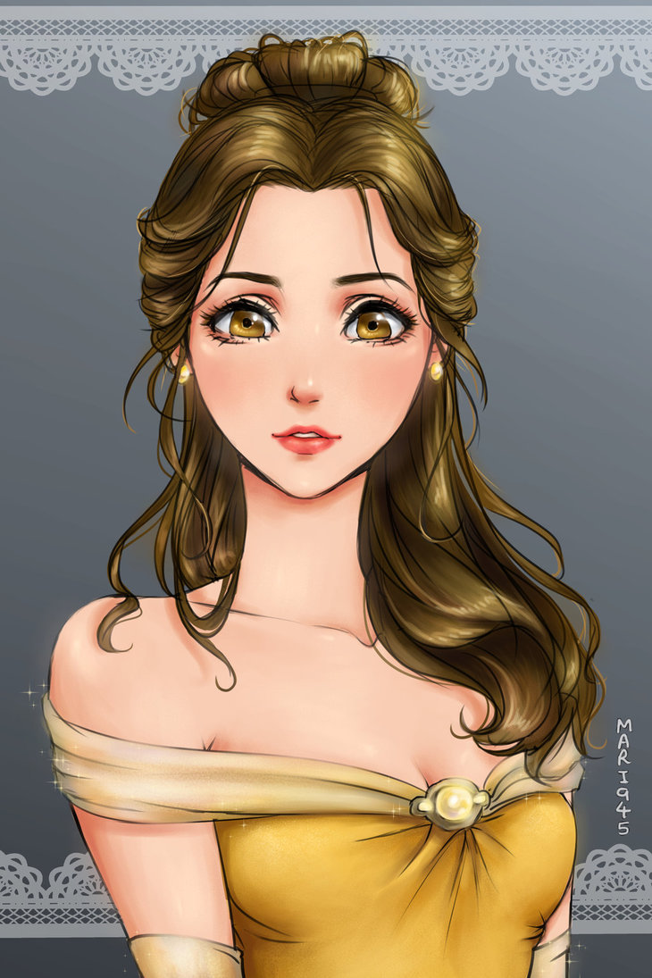 12 Disney Princesses in Anime Style Way Are More Beautiful Than You Think top-10 arts  Disney Anime