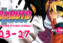 Boruto: Naruto Next Generations September – October 2017 Schedule