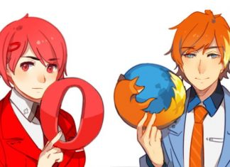 ILLUSTRATOR TURNS POPULAR INTERNET BROWSERS INTO ANIME CHARACTERS
