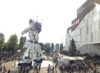 Tokyo's new giant Gundam anime robot statue unveiled