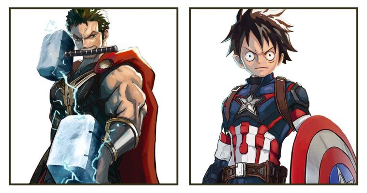 "Singapore Based Illustrator Turned ""One Piece"" Characters Into Marvel Avengers"