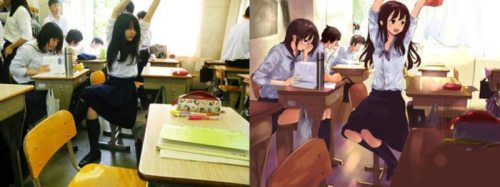 Real girls versus their anime counterparts arts  Cosplay Arts Anime