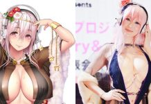 "49 Years Old Japanese Celebrity ""Mika Kano"" Cosplays As ""Super Sonico"" For An Event"