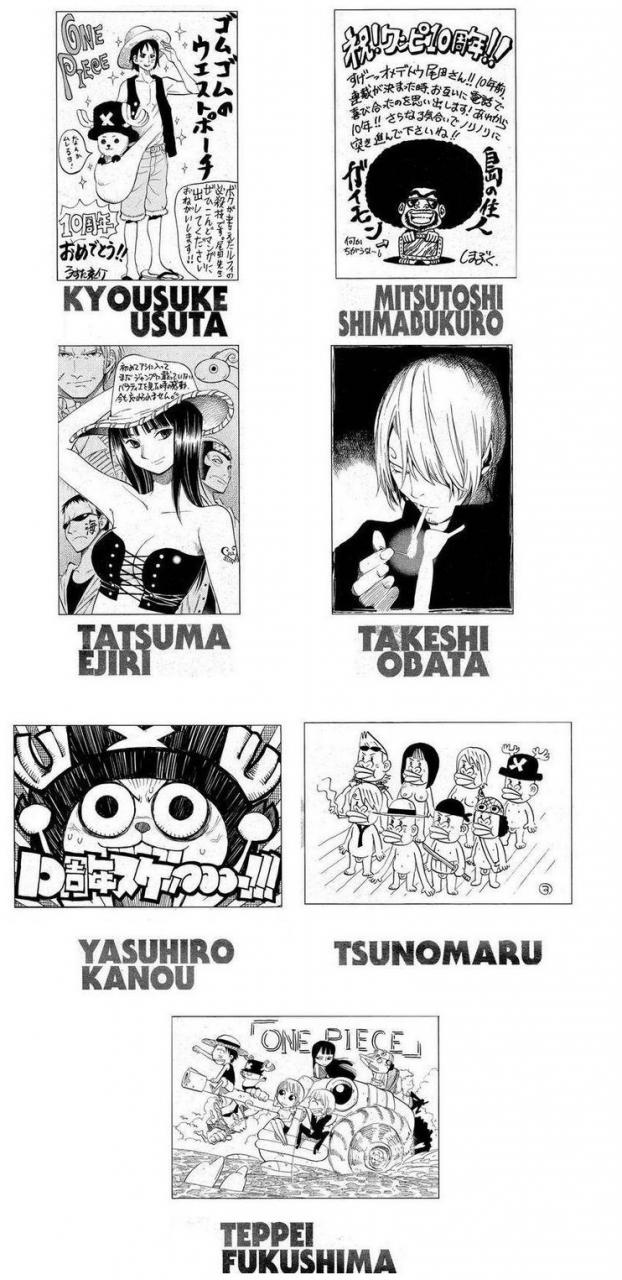 34 Famous Mangakas drew the Straw Hat Pirates in their own styles!