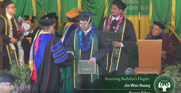American Otaku Attends College Graduation Accompanied By His Anime Girl Huggy Pillow
