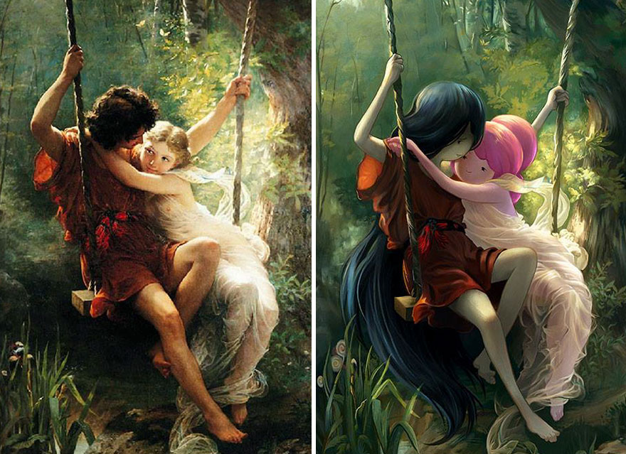 Artist Transforms Classical Paintings Into Amazing Geek Art