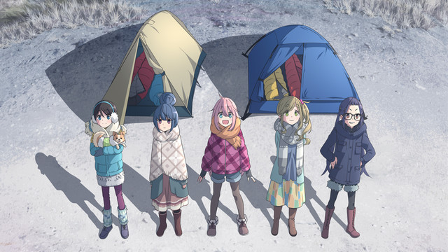 Laid-Back Camp to Return for Season 2, a Movie, and a Short Anime